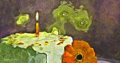 Torch Painting - Happy Birthday - Pa by Leonardo Digenio