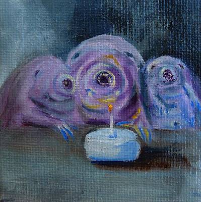 Microscopic Painting - Happy Birthday Water Bear You Are Loved by Jessmyne Stephenson