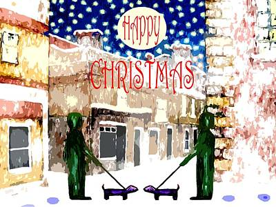 Happy Christmas 100 Print by Patrick J Murphy