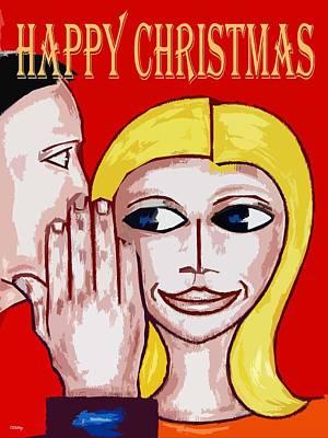 Couple Mixed Media - Happy Christmas 69 by Patrick J Murphy