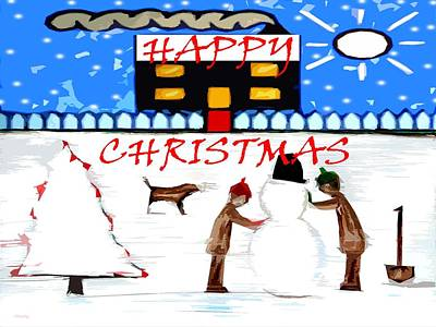 Happy Christmas 82 Print by Patrick J Murphy
