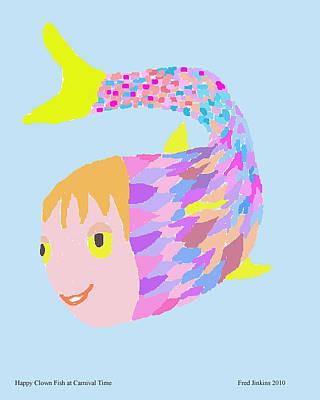 Clown Fish Digital Art - Happy Clown Fish  by Fred Jinkins