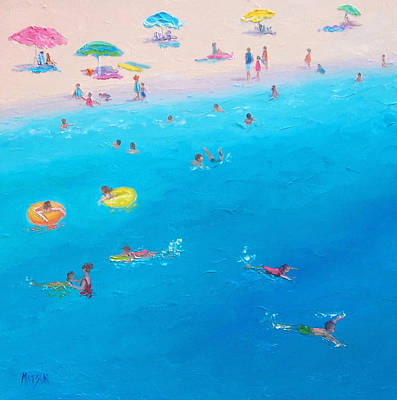 Happy Days At The Seaside Print by Jan Matson