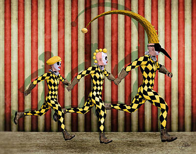 Happy Family Circus Print by Quim Abella