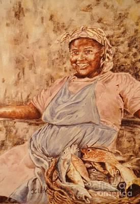 Happy Fish Seller Print by John Clark