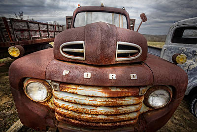 Happy Ford Print by Debra and Dave Vanderlaan
