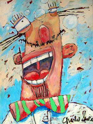 High Key Painting - Happy Frederico by Charlie Spear
