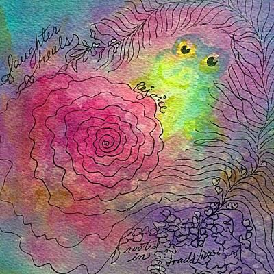 Happy Frog Print by Ellen Levinson