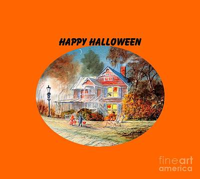 Happy Halloween Print by Bill Holkham