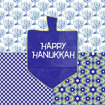 Holiday Painting - Happy Hanukkah Dreidel 1- Art By Linda Woods by Linda Woods