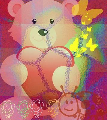 Yesayah Digital Art - Happy Heart For All Kids by Fania Simon