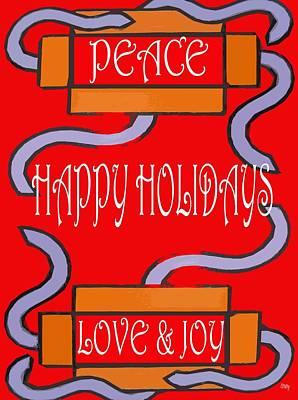 Joy Mixed Media - Happy Holidays 103 by Patrick J Murphy