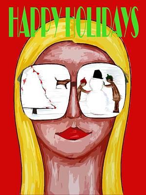 Happy Holidays 57 Print by Patrick J Murphy