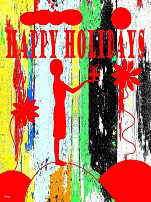 Happy Holidays 62 Print by Patrick J Murphy