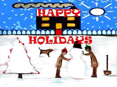Happy Holidays 69 Print by Patrick J Murphy