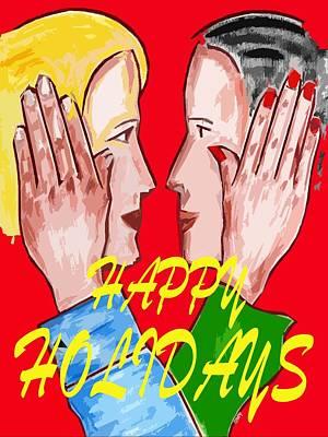 Couple Mixed Media - Happy Holidays 74 by Patrick J Murphy