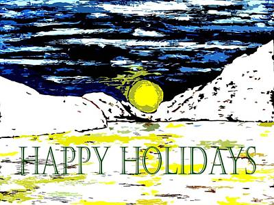 Snow-covered Landscape Mixed Media - Happy Holidays 82 by Patrick J Murphy