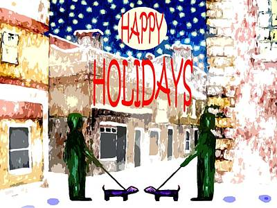 Happy Holidays 83 Print by Patrick J Murphy