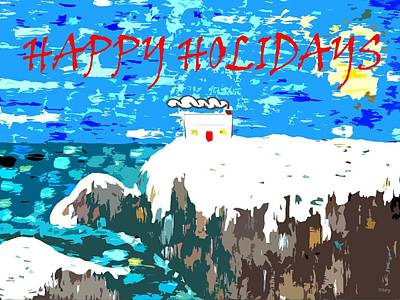 Snow-covered Landscape Mixed Media - Happy Holidays 90 by Patrick J Murphy