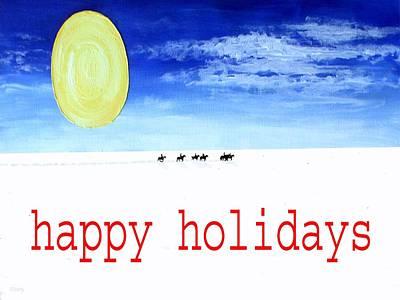 Snow Scene Mixed Media - Happy Holidays 92 by Patrick J Murphy