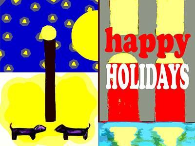Happy Holidays 93 Print by Patrick J Murphy