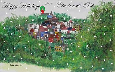 Painting - Happy Holidays From Cincinnati Ohio by Diane Pape