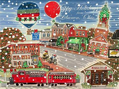 Painting - Happy Holidays From Lebanon, Ohio by Diane Pape