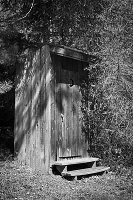 Virginia Photograph - Happy Hollow Outhouse by Teresa Mucha