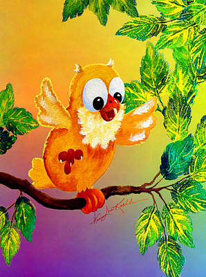 Happy Hoot Print by Hanne Lore Koehler