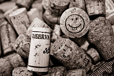 Wine Cellar Photograph - Happy Hour - Corks by Colleen Kammerer