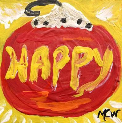 Visionary Art Drawing - Happy by Mary Carol Williams