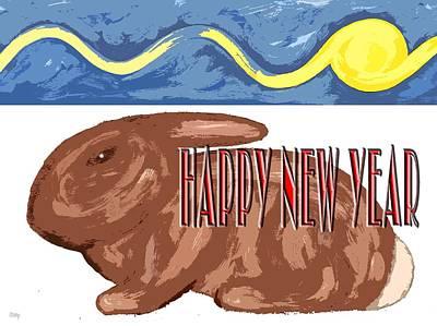 Seasons Painting - Happy New Year 110 by Patrick J Murphy