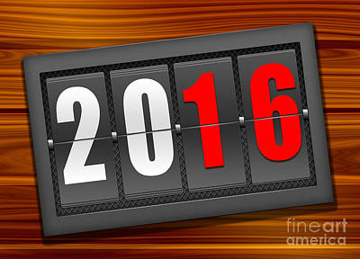 Royalty Free Images Photograph - Happy New Year 2016 by Stefano Senise