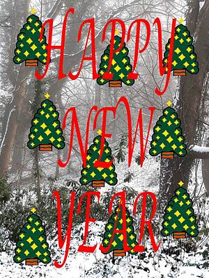 Snow-covered Landscape Mixed Media - Happy New Year 60 by Patrick J Murphy