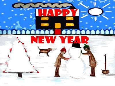 Happy New Year 64 Print by Patrick J Murphy