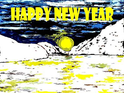 Snow-covered Landscape Mixed Media - Happy New Year 78 by Patrick J Murphy