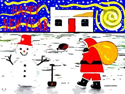 Snow-covered Landscape Mixed Media - Happy New Year 81 by Patrick J Murphy