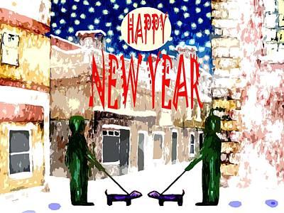 Happy New Year 83 Print by Patrick J Murphy