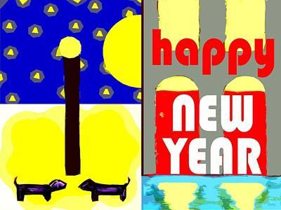 Happy New Year 91 Print by Patrick J Murphy