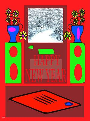 Snow-covered Landscape Mixed Media - Happy New Year 97 by Patrick J Murphy