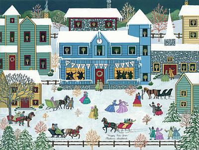 Winter Painting - Happy New Year by Medana Gabbard