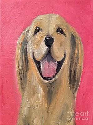 Purebred Painting - Happy Pup by Isabella Abbie Shores