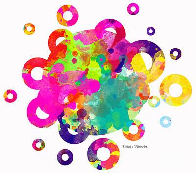 Happy Rings - Digital Art Print by Debbie Portwood