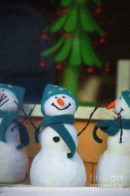 Carrot Digital Art - Happy Snowman by Tim Gainey