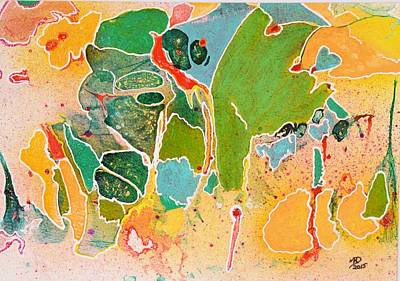 Rhinocerus Mixed Media - Happy Spirits by Marianne Davidow