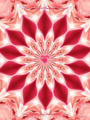 Sweet Digital Art - Happy Valentines Day by Wayne Bonney