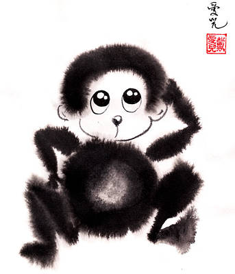 Zen Painting - Happy Year Of The Monkey by Oiyee At Oystudio