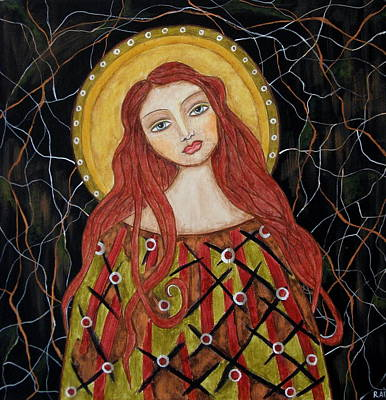 Christian Art . Devotional Art Painting - Harachel by Rain Ririn