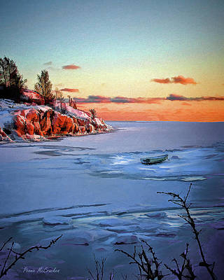Helsinki Finland Digital Art - Harakka Island Sunset by Pennie  McCracken