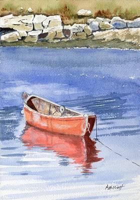 Water Vessels Painting - Harbor At Peggy's Cove by Marsha Elliott